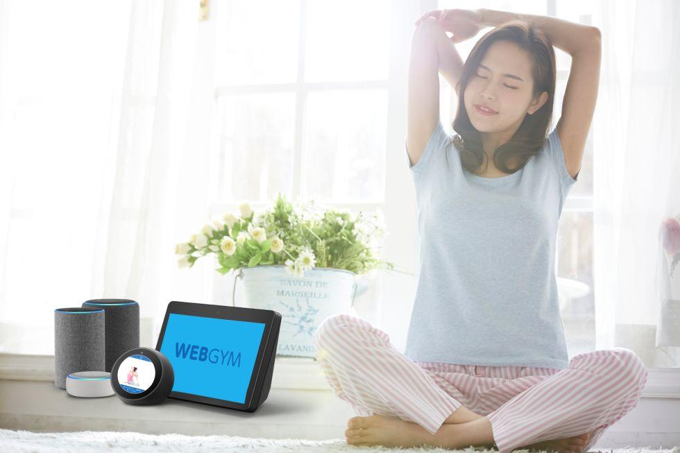 リリース Amazon EchoにWEBGYMが登場!音声操作でスキマ時間に健康習慣を。〜Fire TVやスクリーン付きデバイスで動画を見ながらエクササイズ〜